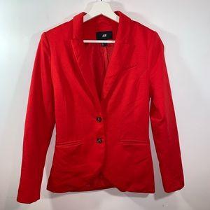 H&M 4 Red Blazer